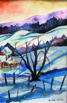 20131107_Winterlandschaft_aquarell